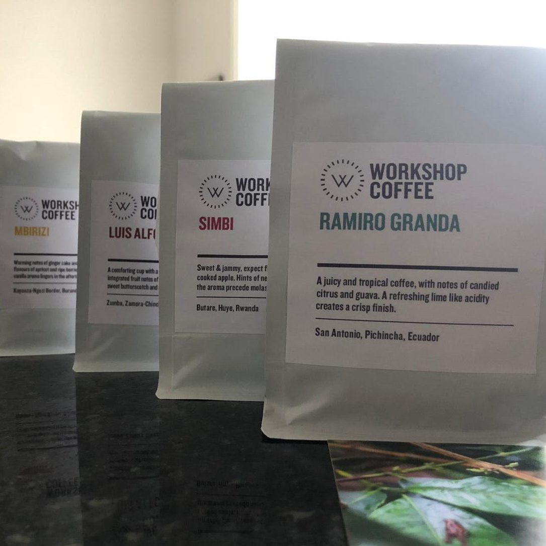 Workshop coffee available roasts